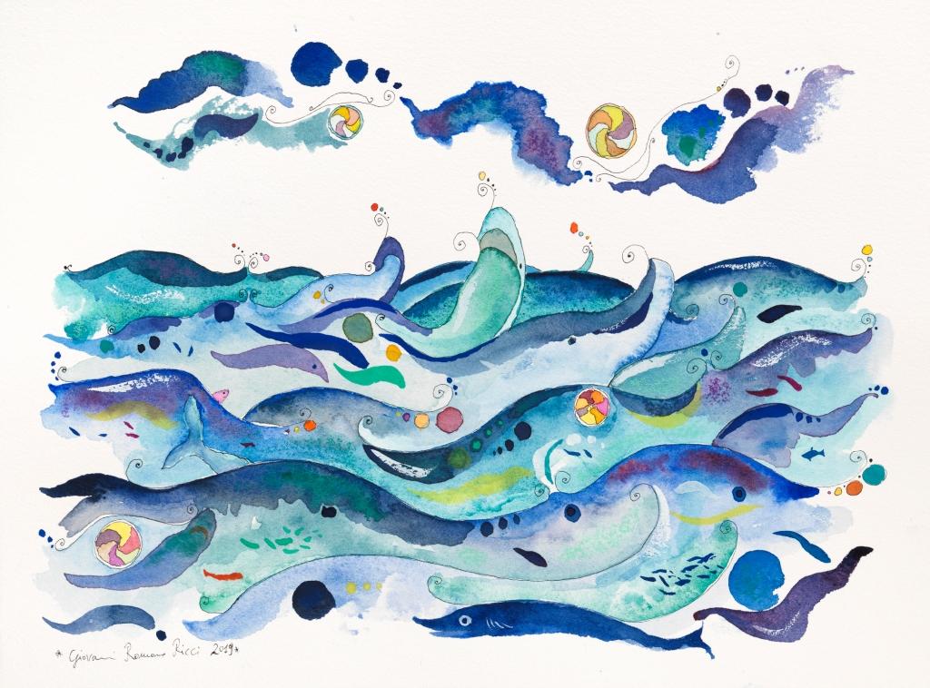 Giovanni Romano Ricci Happiness Water watercolour
