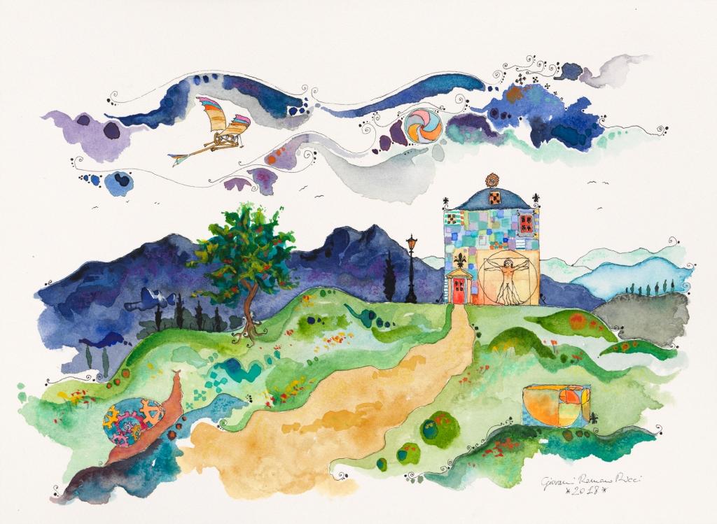 giovanni romano ricci painting watercolour da vinci house