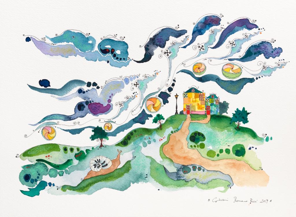 giovanni romano ricci painting watercolour house