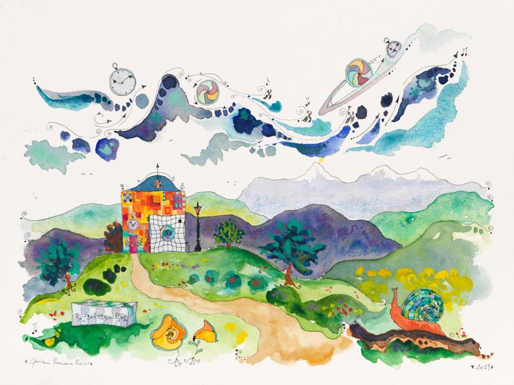 giovanni romano ricci painting watercolour einstein house