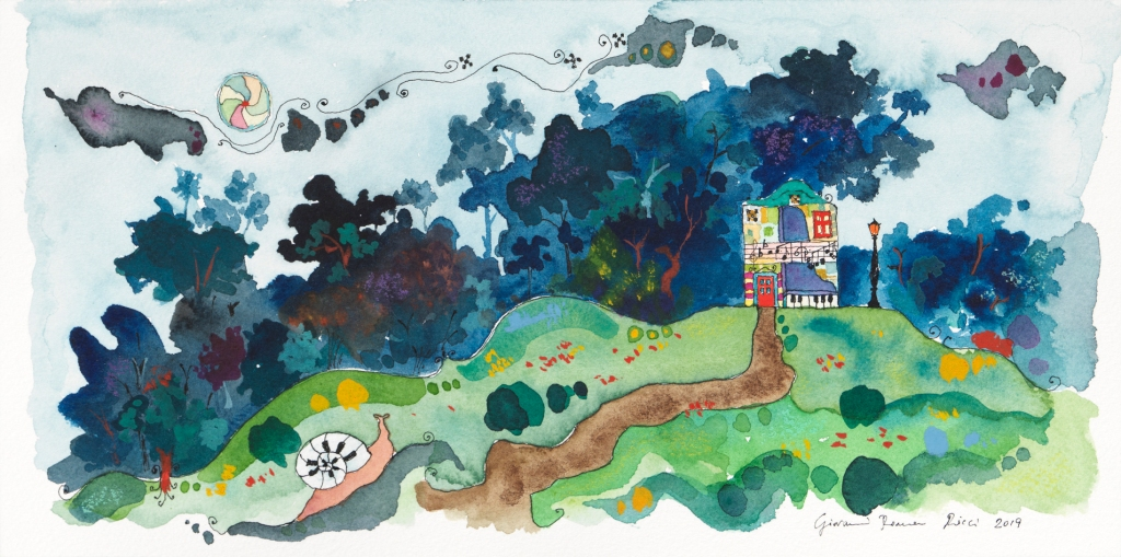 giovanni romano ricci painting watercolour rubinstein house