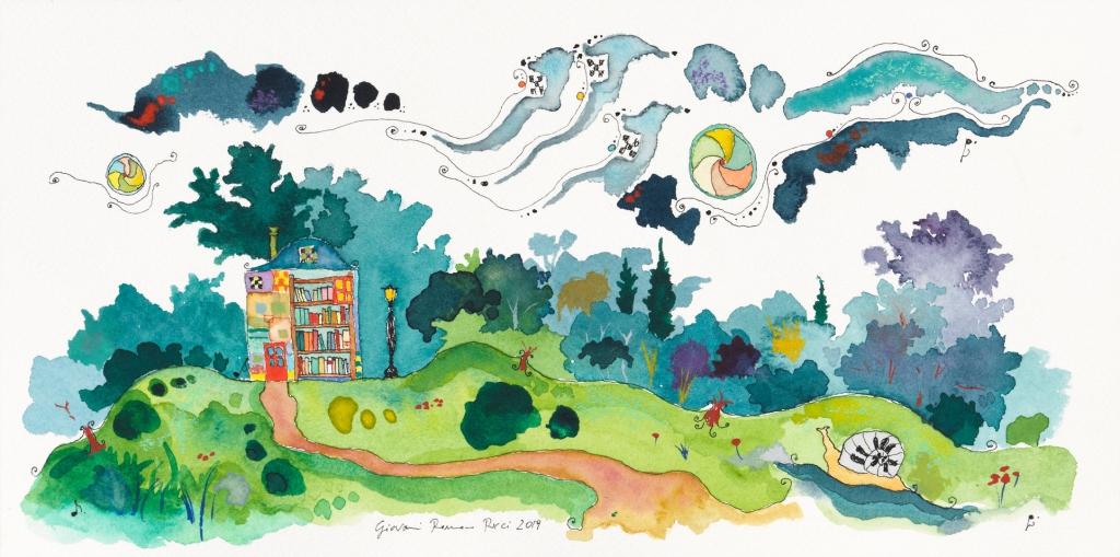 giovanni romano ricci painting watercolour house friend