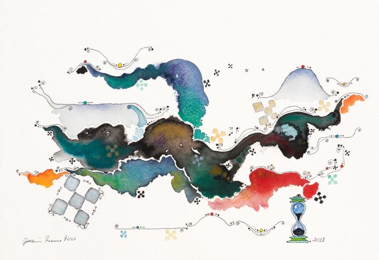 giovanni romano ricci watercolour painting space