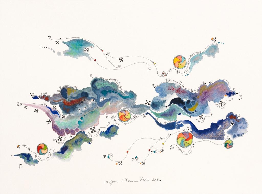 giovanni romano ricci painting watercolour space planet