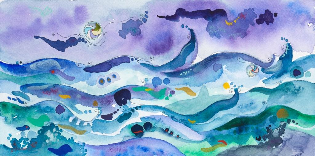 giovanni romano ricci painting watercolour tempest